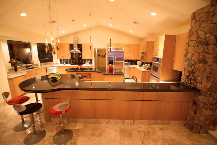 Pics for luxury mansion kitchens for Home kitchen photos
